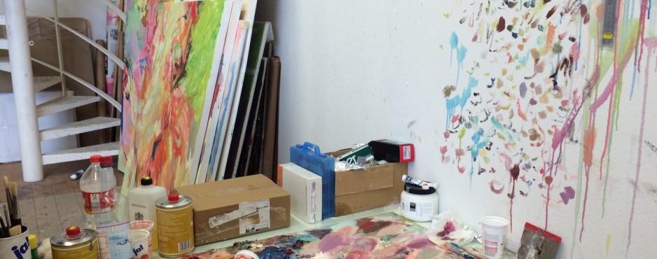 Impression aus dem Atelier von Jaemin Lee