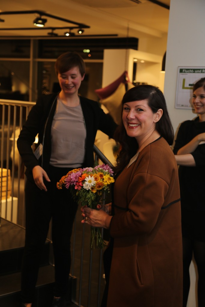 Künstlerin Friederike Wichert war am Abend anwesend